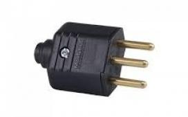 Plugue Macho Reto 2P+T 10A PT PLD1-3