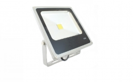 Refletor slim LED - 10W / Cinza