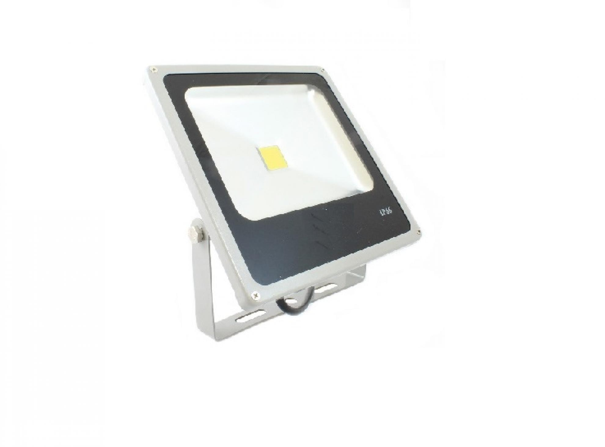 Refletor slim LED - 50W / Cinza