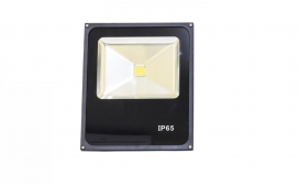 Refletor slim LED - 30W / Preto