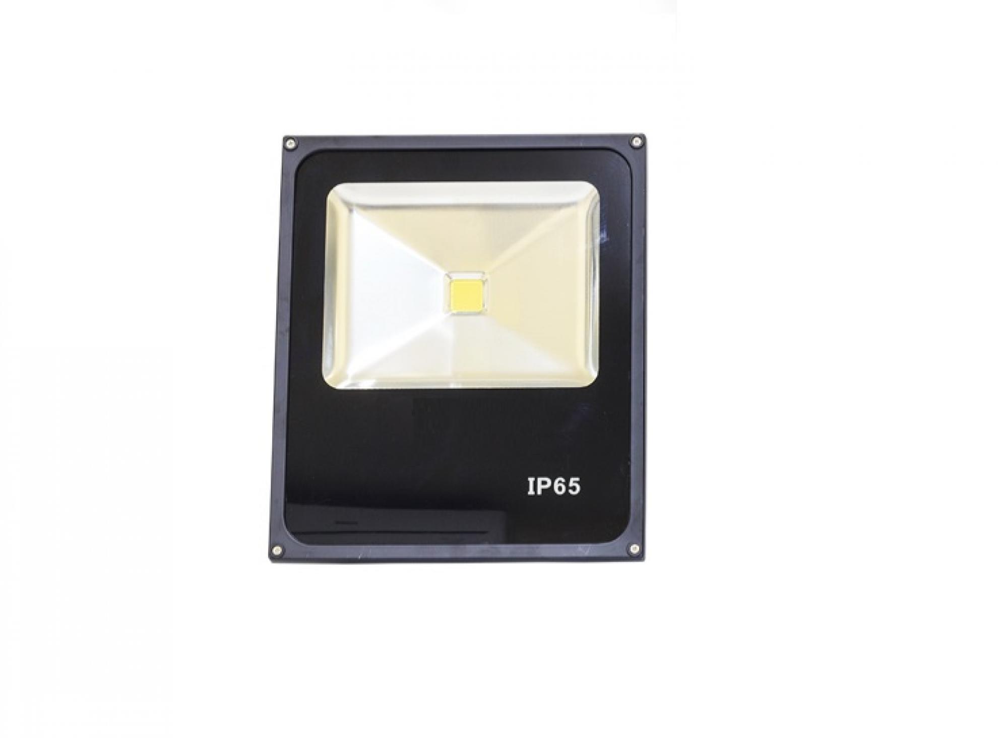Refletor slim LED - 50W / Preto 6000k