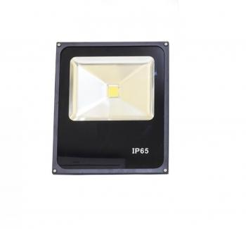 Refletor slim LED - 100W / Preto 6000K