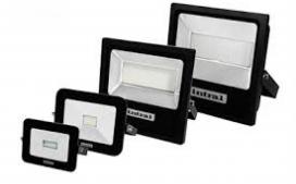 REFLETOR LED 100W PRETO 6000K LUNA SLIM