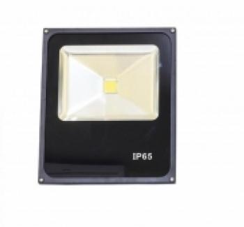 Refletor Slim LED 50W Preto 6500k IP 65