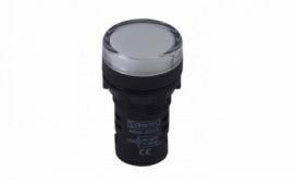 SINALEIRO LED 9MM BRANCO 24VCC/VCA SDK24