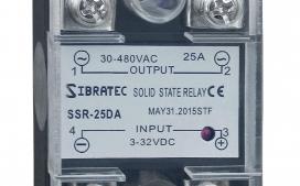 Rel� de Estado S�lido Monof�sico SSR-25Da 25A (Importado) Controle = 3~32Vcc ? Contato (25A) = 30~480Vca