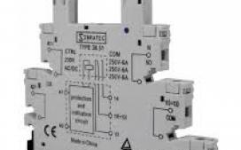 BASE RELE ACOPLAMENTO FINO 24VDC OU 24 VCA