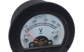 Volt�metro Anal�gico SF-52mm Redondo de 0-500Vca