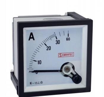 Amper�metro Anal�gico 72x72mm Medi��o Direta 30A