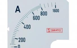 Escala para Amper�metro Anal�gico 800A - 96x96mm