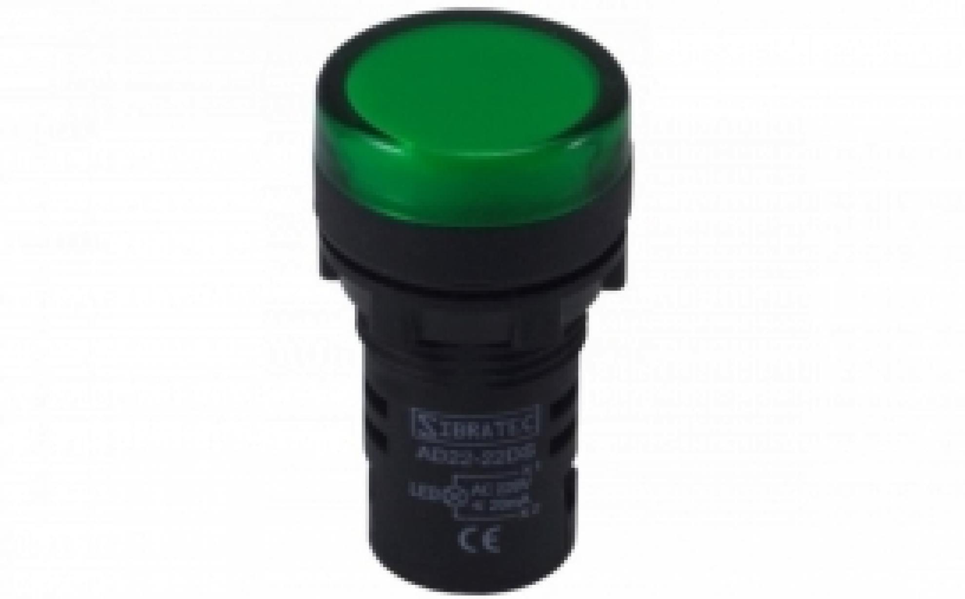 SINALEIRO LED 9MM VERDE 110/220VSKD220Y