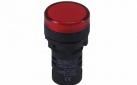SINALEIRO LED 22MM VERMELHO 24VCC/VCA AMPLA 4R2  C/ RETORNO