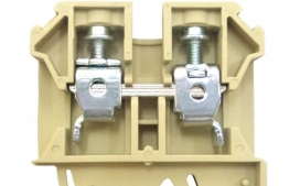 Borne Sak JUT2-6 para cabo 6,0mm� Bege