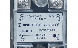 Rel� de Estado S�lido Monof�sico SSR-40Da 40A (Importado) Controle = 3~32Vcc ? Contato (40A) = 30~480Vca