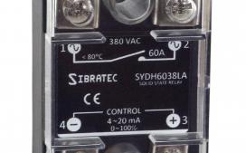 Rel� de Estado S�lido Monof�sico SYDH6038-LA ? Controle 4~20Ma ? Contato (60A) 0~380Vca