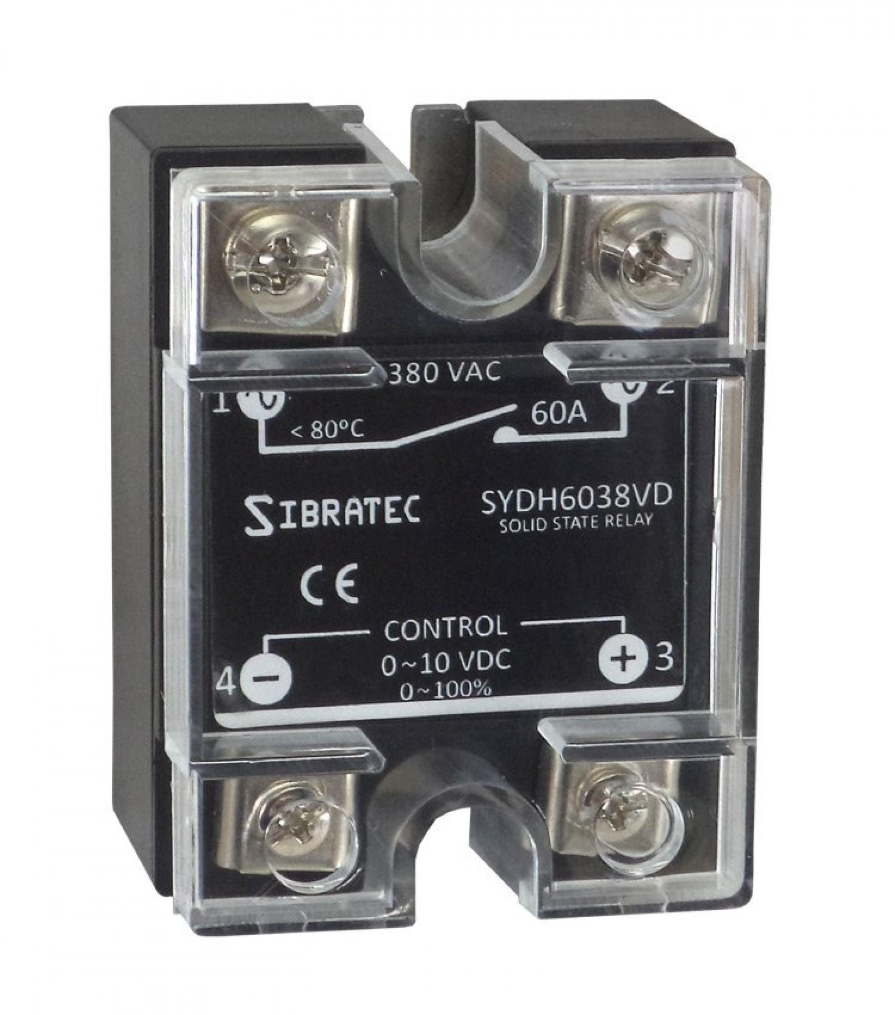 Rel� de Estado S�lido Monof�sico SYDH6038-VD ? Controle 0~10Vcc ? Contato (60A) 0~380Vca