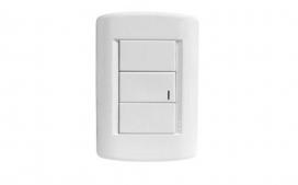 Conjunto de Interruptor Simples Branco - Talari